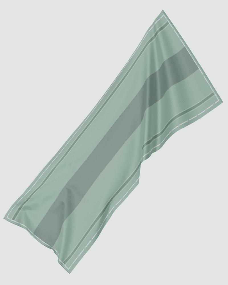AIRI PRINTED SHAWL - BRIGHT PASTEL GREEN-CYAN