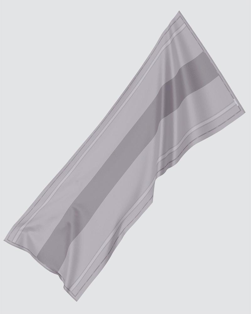 AIRI PRINTED SHAWL - MEDIUM GREY-BROWN
